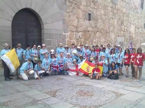Salford Diocese in Avila, this is the group I went to WYD Madrid with.